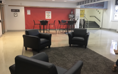 Nipher's Student Center is full of comfortable places to sit and relax. (Photo by Reagan Dolan)