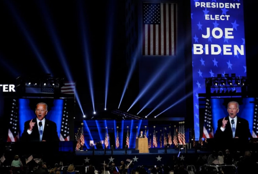 President-elect Joe Biden speaks on Saturday, Nov. 7 in Wilmington, Del. (Image source: Washington Post)